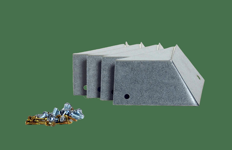 Sneglekant - hjørneprofiler 4 stk. + skruer