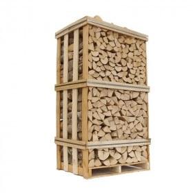 Ovntørret Ask - stablet pejsebrænde